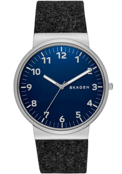 Skagen Ancher Felt Watch Black/Blue SKW6232
