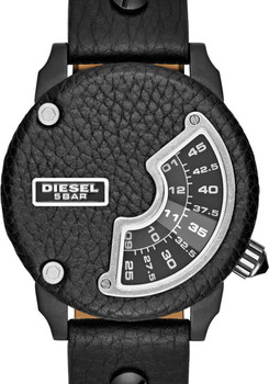 "Diesel DZ7353 Limited Edition ""Biker"" Leather Mini Daddy Jump Hour"