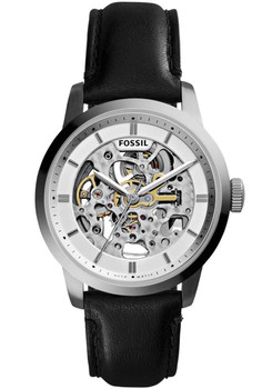 Fossil Townsman Leather Automatic Silver/Black