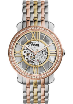 Fossil Curiosity Hand-Wound Tri-Tone Stainless Steel Watch ME3087