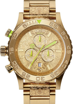 Nixon 42-20 Chrono All Gold/Neon