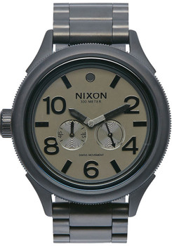 Nixon October Tide Matte Black Gunmetal