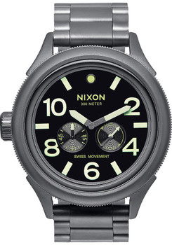 Nixon October Tide All Gunmetal Lume