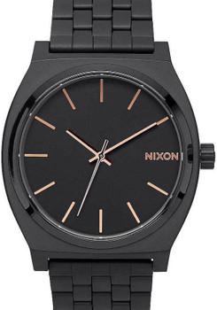 Nixon Time Teller All Black Rose Gold