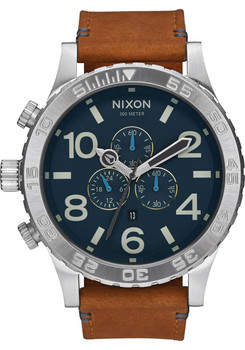 Nixon 51-30 Chrono Leather Navy/Saddle