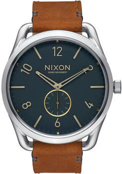 Nixon C45 Leather Navy/Saddle