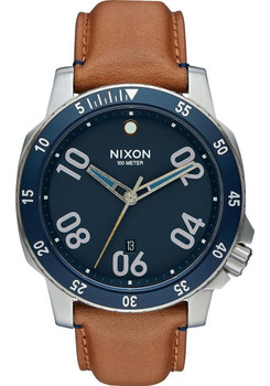 Nixon Ranger Leather Navy/Saddle