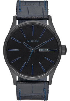 Nixon Sentry Gator Leather Navy