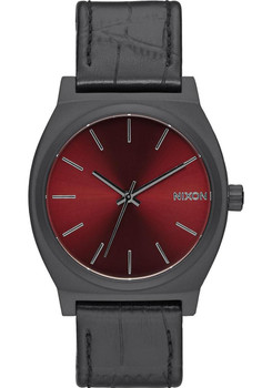 Nixon Time Teller Gator Leather Black