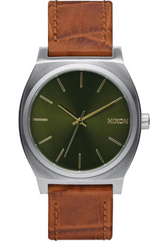 Nixon Time Teller Gator Leather Saddle