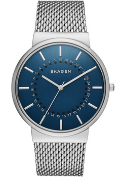 Skagen Ancher Mesh Date Navy