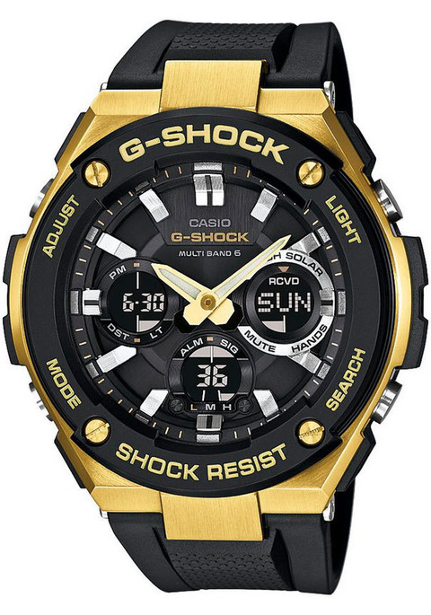 G-Shock G-Steel Solar Worldtime Gold Black
