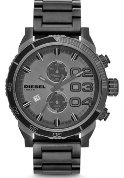 Diesel Double Down 48 Chrono Gunmetal