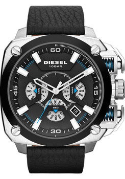 Diesel DZ7345 BAMF Leather Chronograph Silver/Black