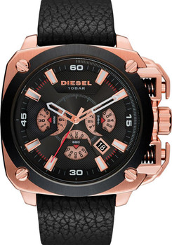 Diesel DZ7346 BAMF Leather Chronograph Rosegold