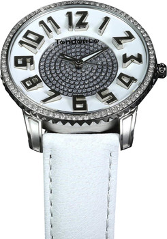 Tendence Ladies Slim Silver/White Stones Limited Edition