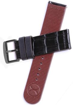 Xeric Halograph HLG-3017 Black Croc/Gunmetal Strap