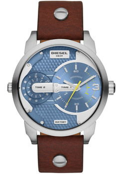 Diesel DZ7321 Mini Daddy Leather Brown/Blue