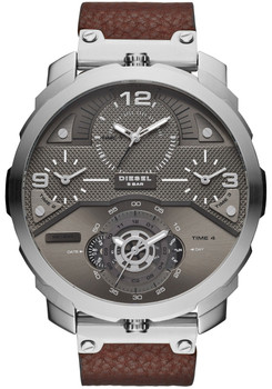 Diesel DZ7360 Machinus Leather Silver/Brown