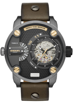 Diesel DZ7364 Automatic Daddies Leather Brown