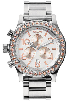 Nixon 42-20 Chrono Silver/Gold Crystal