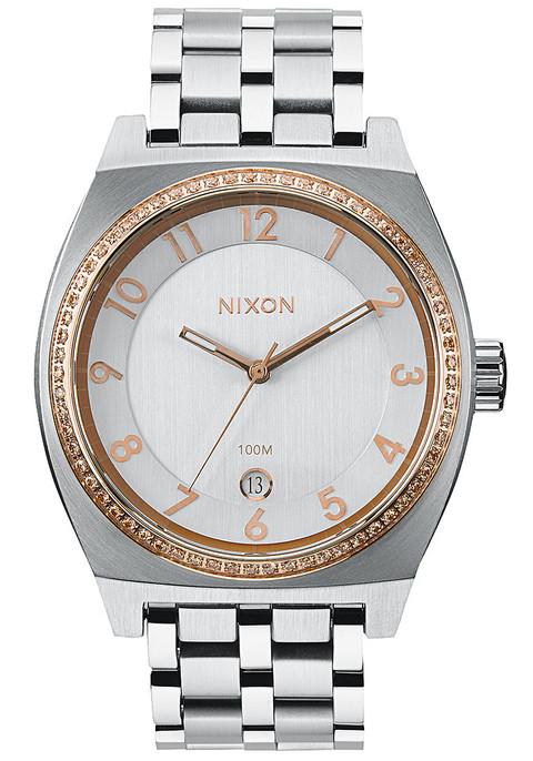Nixon Monopoly Silver/Light Gold Crystal (A3251519)