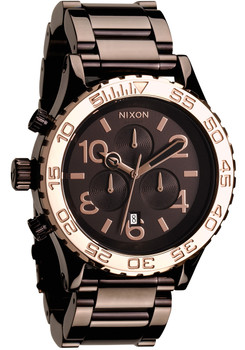 Nixon 42-20 Chrono Chocolate/Rose Gold (A0371193)