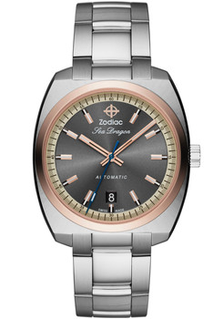Zodiac ZO9908 Sea Dragon Automatic -Silver/Rose Gold
