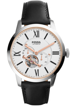 Fossil Townsman Leather Automatic Black