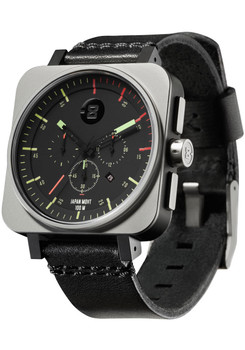Minus-8 Square Chrono Black Bright