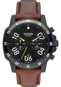 Nixon Ranger Chrono Leather All Black Brown