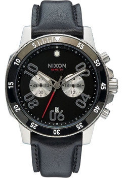 Nixon Ranger Chrono Leather Black