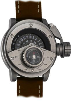 Retrowerk Compass -Steel/Brown Leather