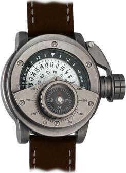 Retrowerk Compass Automatic Worn Steel/White