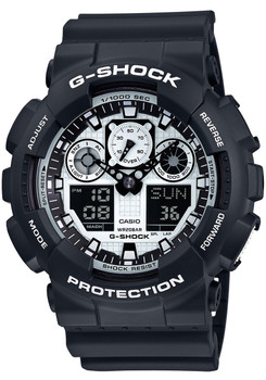 G-Shock GA-100BW-1A Black/White Series
