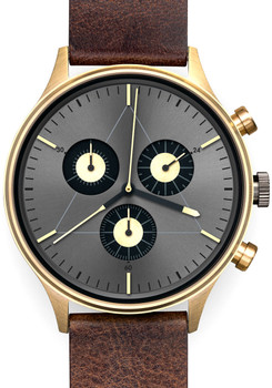 Cronometrics Engineer L19 Gold Brown Leather