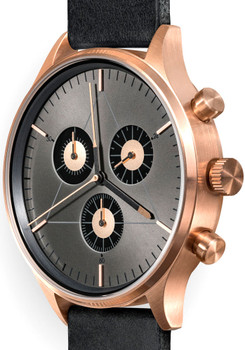 Cronometrics Engineer L6 Rose Gold Black Leather