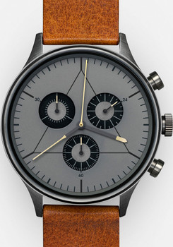 Cronometrics Engineer L21 Gunmetal Brown Leather