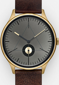 Cronometrics Architect L14 Gold/Dark Brown Italian Leather