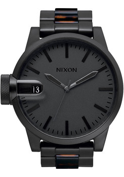 Nixon Chronicle SS Matte Black/Dark Tortoise