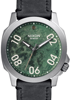 Nixon Ranger 45 Leather Gunmetal/Green