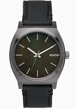 Nixon Time Teller Gun Green Oxyde Leather (A0452070)