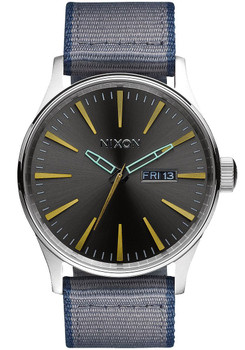 Nixon Sentry Nylon/Leather Gunmetal/Gray