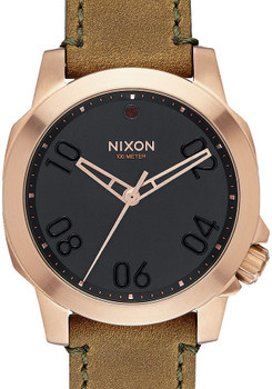 Nixon Ranger 40 Leather Rose Gold/Brown