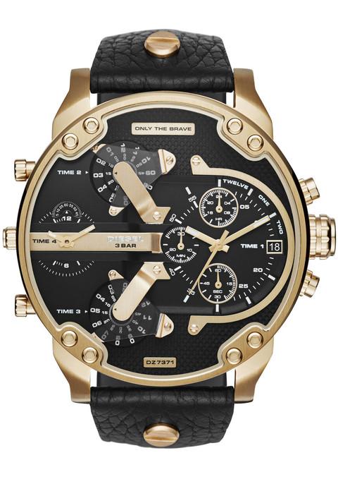 diesel dz7371 mr 2 0 leather gold black watches