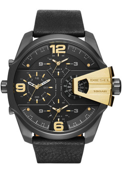 Diesel DZ7377 Uber Chief Black & Gold