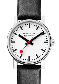 Mondaine Swiss 35mm EVO Black Leather