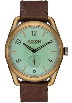 Nixon C39 Leather Brass/Green Crystal