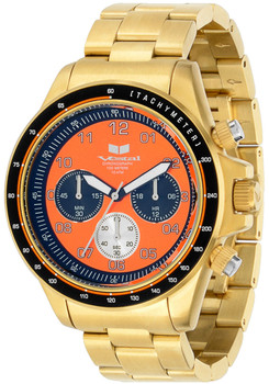 Vestal ZR2022 43mm Brushed Gold/Orange