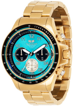 Vestal ZR2023 43mm Brushed Gold/Teal